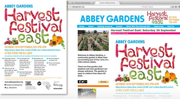 Abbey Gardens Harvest Festival East publicity detail