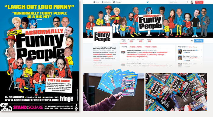 Publicity for Abnormally Funny People at the Edinburgh Fringe 2015