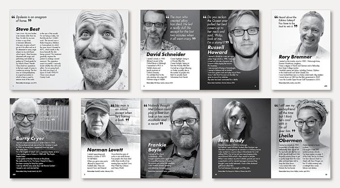Design of Jokerface - Steve Best's book of comedians
