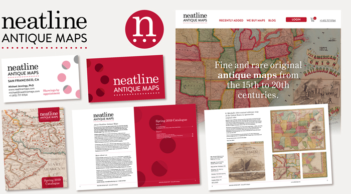 Neatline Antique Maps rebrand