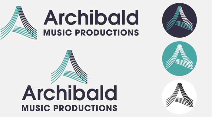 Archibald Music Productions logo design